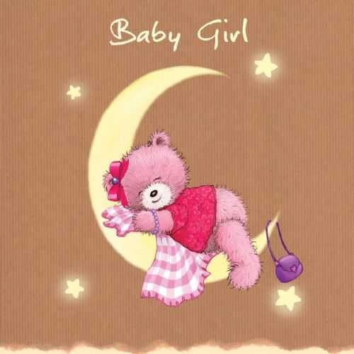 Baby Girl, New baby Card